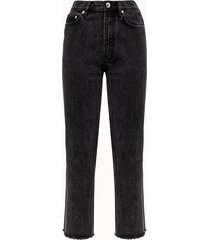 a.p.c. jeans jean rude in denim nero