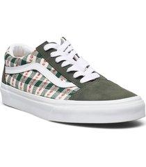 ua old skool låga sneakers grön vans
