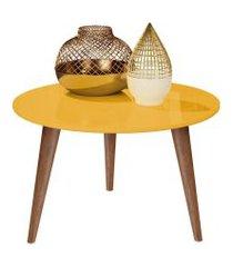 mesa centro retrô cissa - amarelo - compre aqui