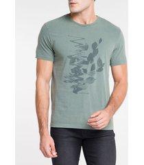 camiseta ckj mc flower blur - militar - pp