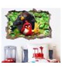 adesivo buraco na parede angry birds - gi 100x155cm