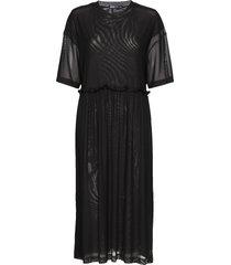 w. mesh dress knälång klänning svart svea