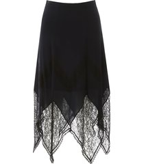 see by chloé midi skirt with lace