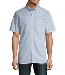 geometric-print short-sleeve shirt