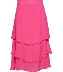 philipa knälång kjol rosa custommade