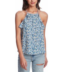 1.state printed ruffle-trim top