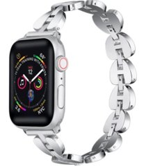 unisex sleek metal link apple watch replacement band, 38mm
