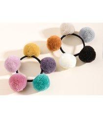 1 pieza colorful decoración con pompones cabello corbata