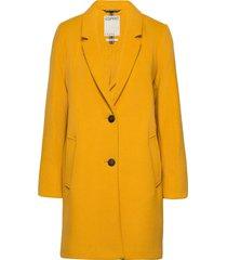 coats woven wollen jas lange jas geel esprit casual