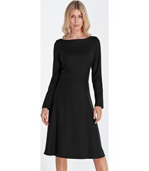 sukienka elegancka midi czarny