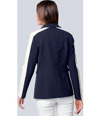 kavaj alba moda marinblå::vit