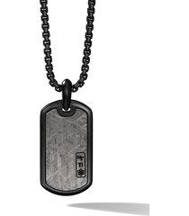 david yurman titanium 35mm tag necklace - black