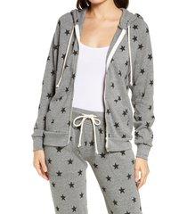 women's alternative adrian print zip hoodie, size 2x - grey