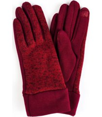 women's marled knit jersey touchscreen glove