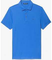 mk polo in cotone - pop blue - michael kors
