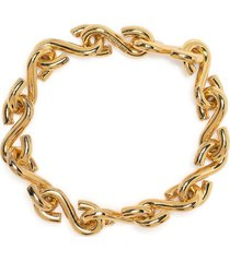 all blues hook chain bracelet - gold