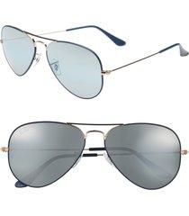 men's ray-ban original aviator 58mm sunglasses - dark blue