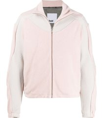 gmbh fleece two-tone jacket - pink