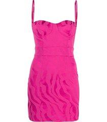 just cavalli slim-fit mini dress - pink