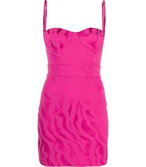 just cavalli slim-fit mini dress - pink