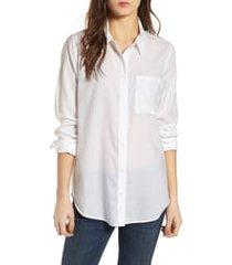 women's treasure & bond drapey classic shirt, size small - white