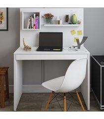 mesa escrivaninha first 1 gaveta branco - artany