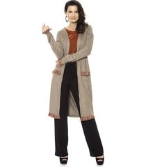 casaco bisô maxi mantela feminino