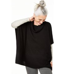 charter club cashmere cowl-neck poncho, created for macy's