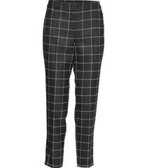 crop leisure trouser byxa med raka ben svart taifun