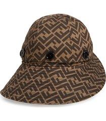 women's fendi ff logo convertible hat -