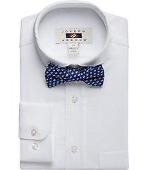 joseph abboud boys white dress shirt & bow tie set