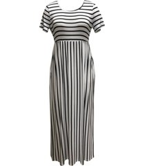 style & co plus size seamed-waist printed maxi dress, created for macy's