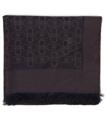 salvatore ferragamo gancini two colors wool male scarf