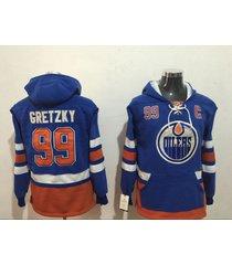 men's edmonton oilers 99 wayne gretzky hockey pullover hoodie jersey