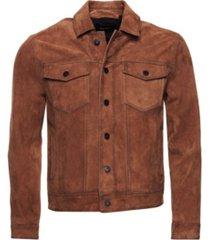 superdry men's suede highwayman trucker jacket