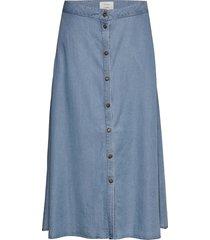 nuahna skirt knälång kjol blå nümph