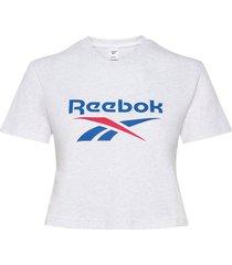 cl f big logo tee t-shirts & tops short-sleeved vit reebok classics