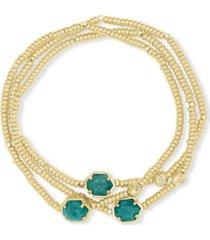 kendra scott 3-pc. set ball & gemstone beaded stretch bracelets