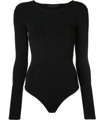 wardrobe.nyc body de tricô - preto