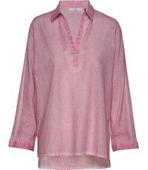 blouses woven blus långärmad rosa edc by esprit