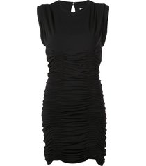 alexander wang ruched formal dress - black