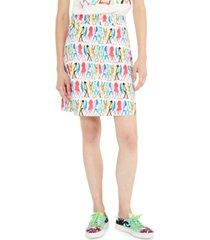weekend max mara printed skirt