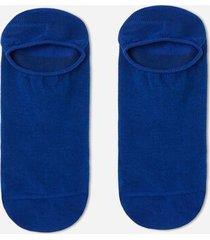 calzedonia unisex cotton no-show socks man blue size 37-39