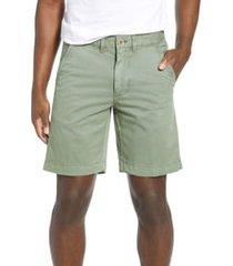 men's vintage 1946 'sunny' stretch chino shorts, size 38 - green