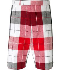 thom browne large buffalo check tweed trousers - multicolour