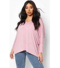 plus boxy slouchy t-shirt, lilac