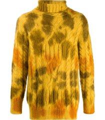 moncler tie-dye turtleneck jumper - yellow