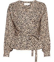 petra blouse lange mouwen bruin fall winter spring summer