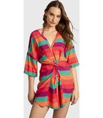 blusa lez a lez mc sunset multicolor - calce regular