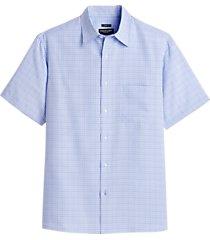 pronto uomo blue plaid classic fit sport shirt